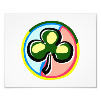abstract clover colored circle behind.png photo