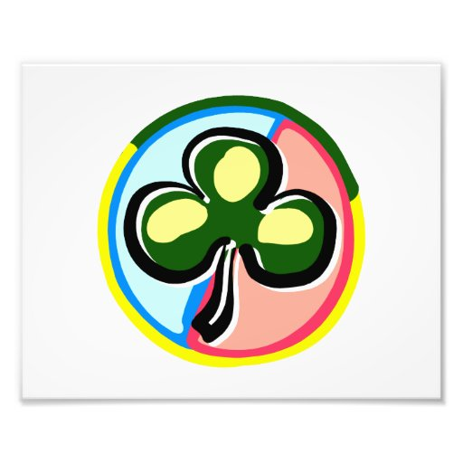 abstract clover colored circle behind.png photographic print