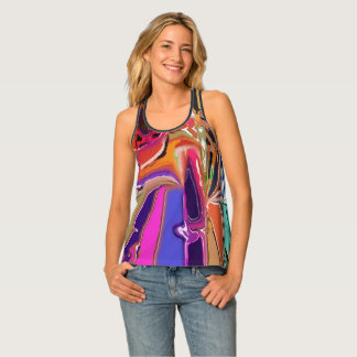 Abstract Clown Abstract Tank Top