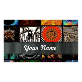 Abstract collage Double-Sided standard business cards (Pack of 100)