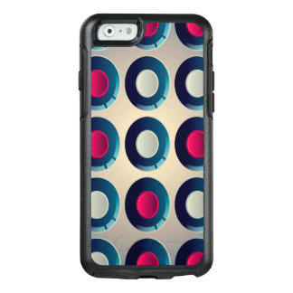 Abstract Color Blue And White Patterns OtterBox iPhone 6/6s Case