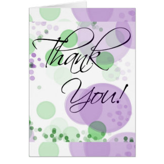 Abstract Color Circle Collage Thank You Card