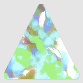 Abstract Color Design Triangle Sticker
