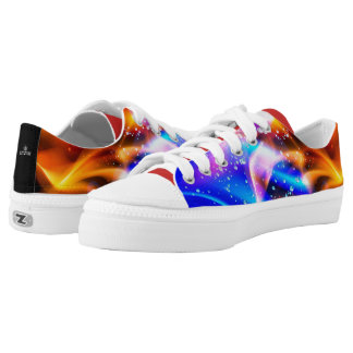 Abstract Color Explosion 101 Low Tops