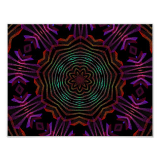 abstract color flower spin print