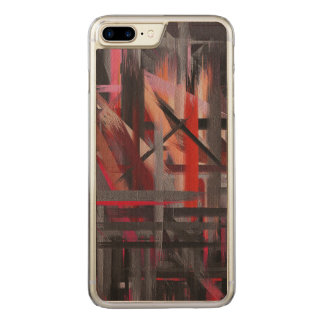 Abstract Color Paint Brush Stroke #14 Carved iPhone 8 Plus/7 Plus Case