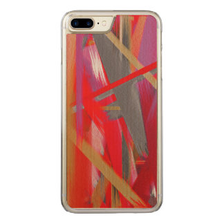 Abstract Color Paint Brush Stroke #8 Carved iPhone 8 Plus/7 Plus Case