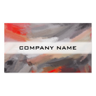 Abstract Color Paint Brush Stroke Pack Of Standard Business Cards