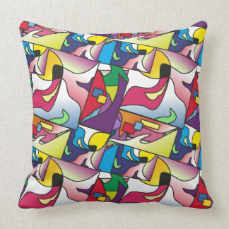 Abstract color shape Pillow