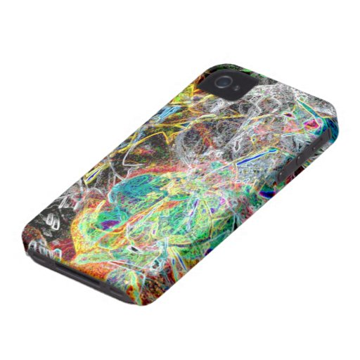 Abstract color strings iphone 4 case