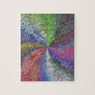 Abstract Color Swirl Jigsaw Puzzle