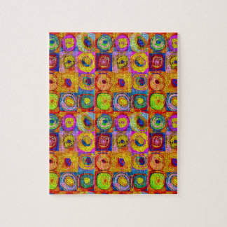 Abstract Color Swirls Jigsaw Puzzle