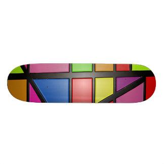 "Abstract Color Tiles Skateboard Deck 8 1/8"""