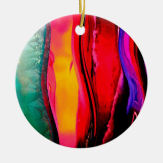 Abstract Colored Bottles Christmas Ornament