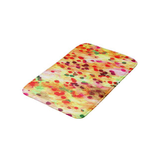 Abstract Colored Dots Background Bath Mat