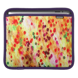 Abstract Colored Dots Background iPad Sleeve