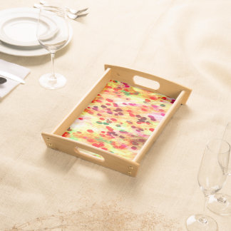 Abstract Colored Dots Background Serving Tray