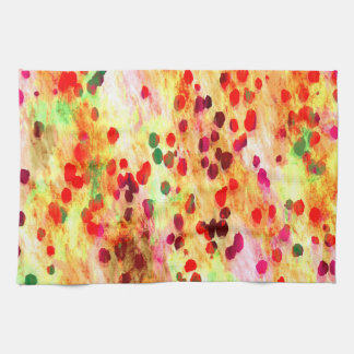 Abstract Colored Dots Background Tea Towel