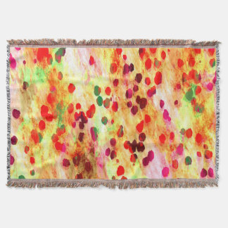 Abstract Colored Dots Background Throw Blanket