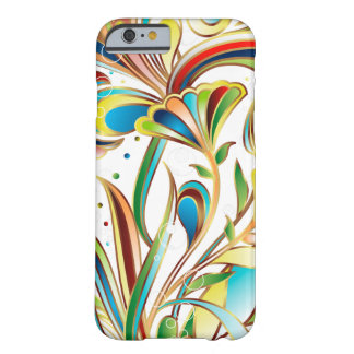 Abstract Colored Floral Vector Art Barely There iPhone 6 Case