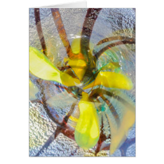 abstract colored glasses card