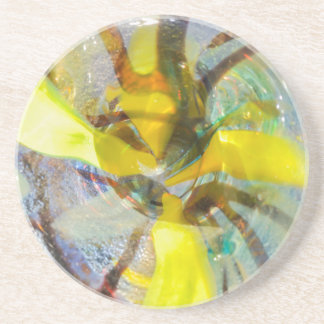 abstract colored glasses coaster