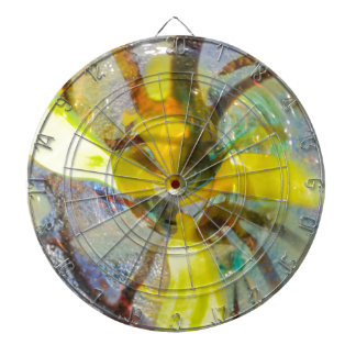 abstract colored glasses dartboards