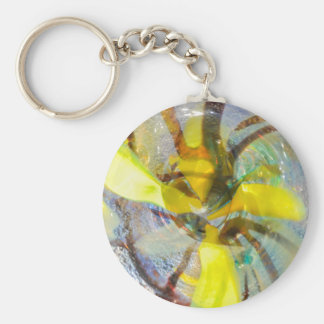 abstract colored glasses key ring