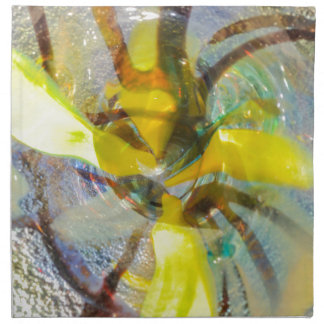 abstract colored glasses napkin