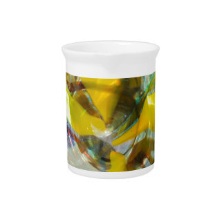 abstract colored glasses pitcher