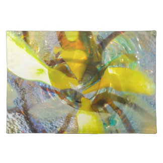 abstract colored glasses placemat