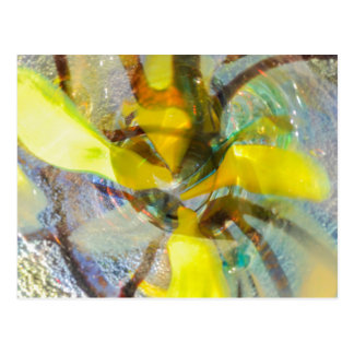abstract colored glasses postcard