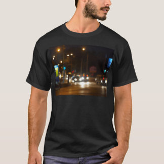 Abstract colored lights from moving vehicles T-Shirt