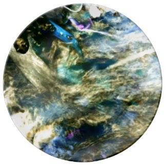 Abstract Colorful Artful Photograph Plate