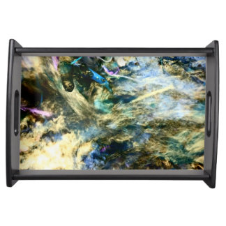Abstract Colorful Artful Photograph Serving Tray