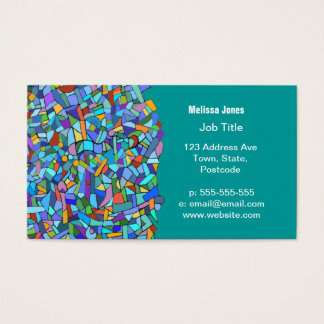 Abstract Colorful Blue Mosaic Pattern