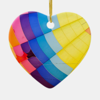 Abstract colorful ceramic heart decoration