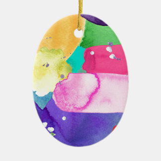 ABSTRACT COLORFUL CERAMIC OVAL DECORATION