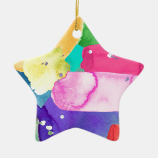 ABSTRACT COLORFUL CERAMIC STAR DECORATION