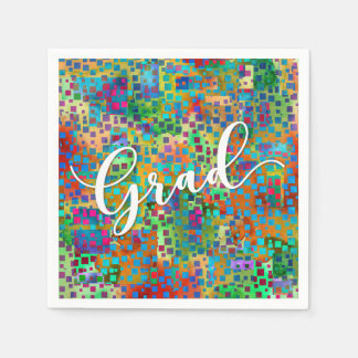 Abstract Colorful Confetti Graduation Celebration Paper Napkins