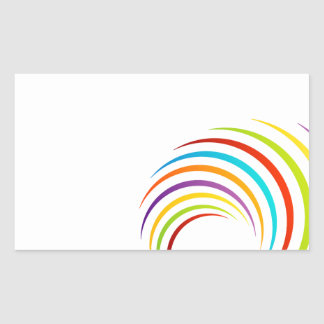 Abstract colorful fractal artwork rectangular stickers