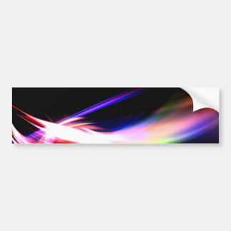 Abstract Colorful Fractal Textured Car Bumper Sticker