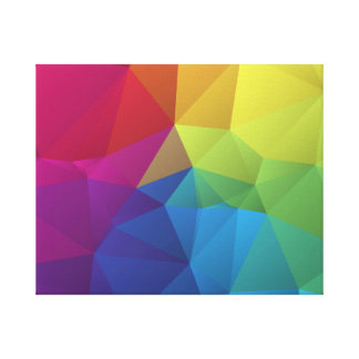 abstract colorful geometric pattern polygon design gallery wrap canvas