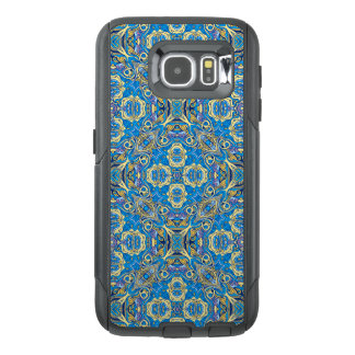 Abstract colorful hand drawn curly pattern design