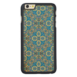 Abstract colorful hand drawn curly pattern design carved® maple iPhone 6 plus case
