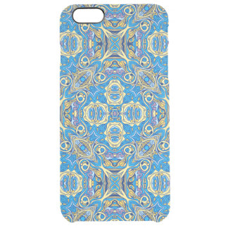 Abstract colorful hand drawn curly pattern design clear iPhone 6 plus case