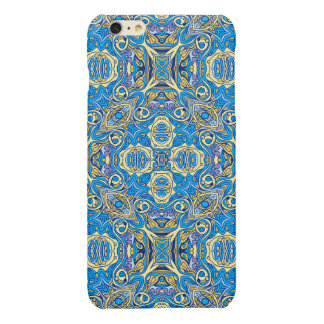Abstract colorful hand drawn curly pattern design iPhone 6 plus case