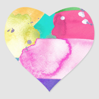 ABSTRACT COLORFUL HEART STICKER