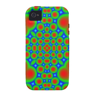 Abstract colorful hearts and circle pattern vibe iPhone 4 covers
