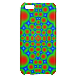Abstract colorful hearts and circle pattern iPhone 5C covers